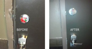 high security keypad lock repair